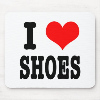 I HEART (LOVE) shoes Mouse Pad