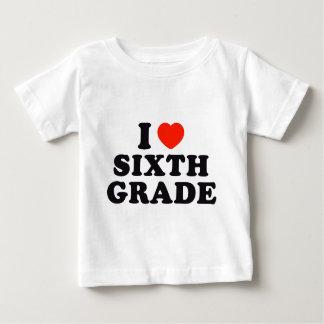 I Heart / Love Sixth Grade Baby T-Shirt