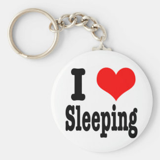 I HEART (LOVE) sleeping Keychain