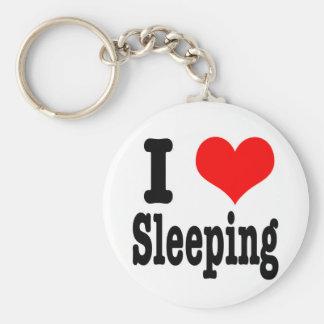 I HEART (LOVE) sleeping Keychain