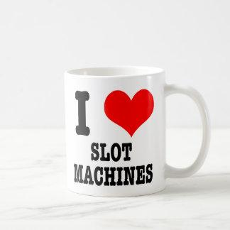 I HEART (LOVE) SLOT MACHINES COFFEE MUG
