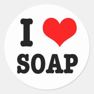 I HEART (LOVE) SOAP STICKER