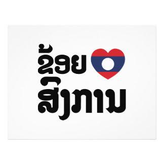 I Heart (Love) Songkan Laotian Language Flyer