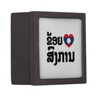 I Heart (Love) Songkan Laotian Language Keepsake Box