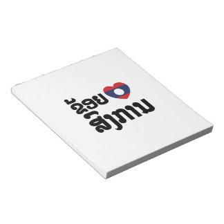 I Heart (Love) Songkan Laotian Language Notepad