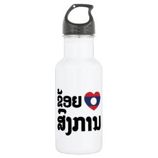 I Heart (Love) Songkan Laotian Language Stainless Steel Water Bottle