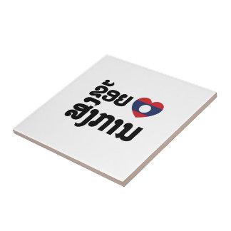 I Heart (Love) Songkan Laotian Language Tile