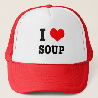I HEART (LOVE) SOUP TRUCKER HAT