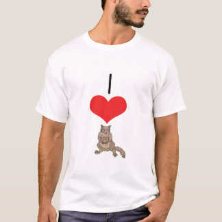 I Heart (Love) Squirrel T-Shirt