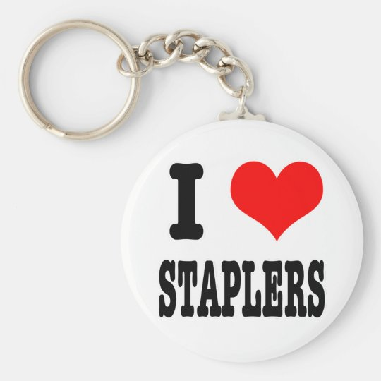 I HEART (LOVE) staplers Keychain
