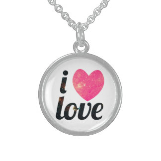 I Heart Love Sterling Silver Necklace