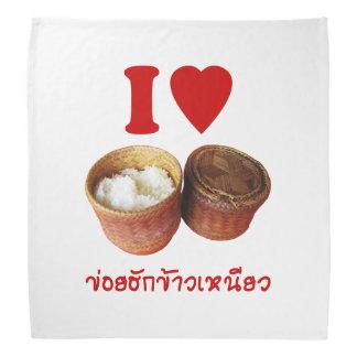 I Heart [Love] Sticky Rice [Khao Niao] - Thai Isan Bandana