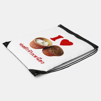 I Heart [Love] Sticky Rice [Khao Niao] - Thai Isan Drawstring Backpack