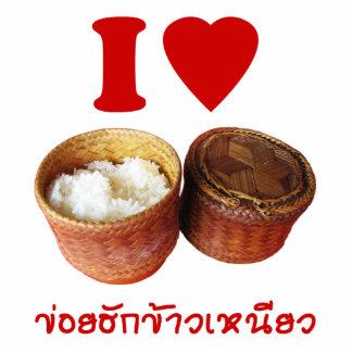 I Heart [Love] Sticky Rice [Khao Niao] - Thai Isan Statuette