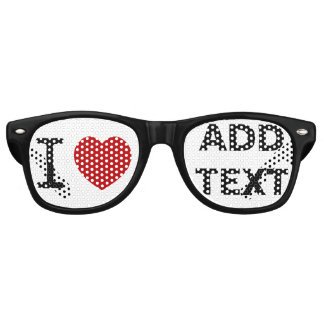 I heart love sunglasses custom