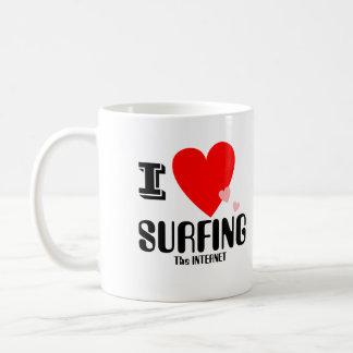 I Heart (Love) Surfing the Internet Mug