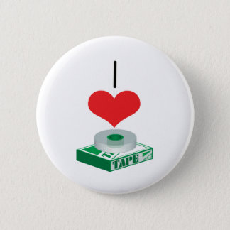 I Heart (Love) Tape Pinback Button