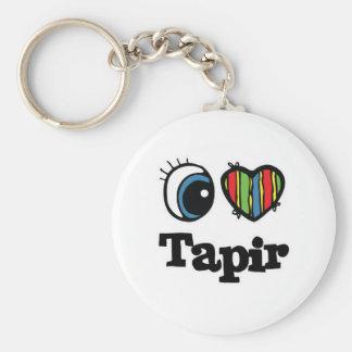 I Heart (Love) Tapir Keychain