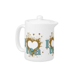 I Heart Love Tea Single Serve Tea Pot