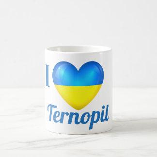 I Heart Love Ternopil Ukraine Flag Mug