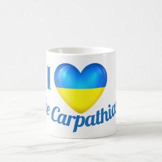 I Heart Love The Carpathians Ukraine Flag Mug
