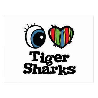 I Heart (Love) Tiger Sharks Post Card