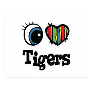 I Heart (Love) Tigers Post Cards