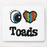 I Heart (Love) Toads Mouse Pad