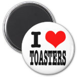 I HEART (LOVE) TOASTERS 2 INCH ROUND MAGNET