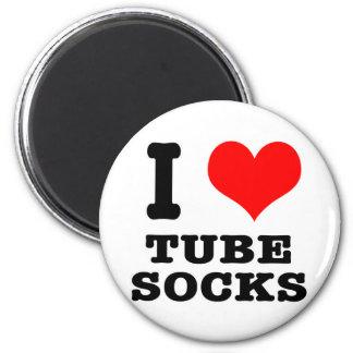 I HEART (LOVE) tube socks Fridge Magnets