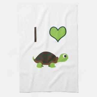 I heart (love) Turtles Hand Towel