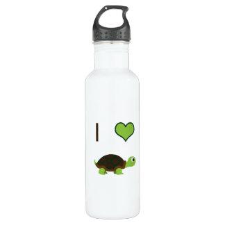 I heart (love) Turtles Stainless Steel Water Bottle
