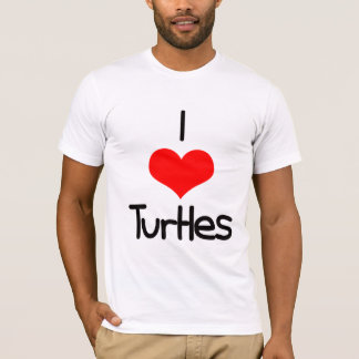 I Heart (Love) Turtles T-Shirt