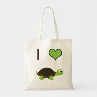 I heart (love) Turtles Tote Bag