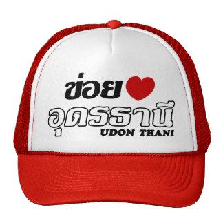 I Heart (Love) Udon Thani, Isan, Thailand Mesh Hats
