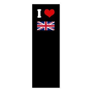 I Heart Love UK British Union Jack Flag Business Cards