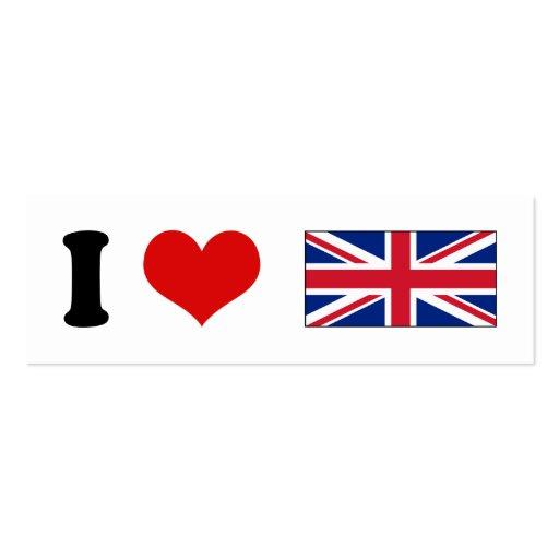 I Heart Love UK British Union Jack Flag Business Card