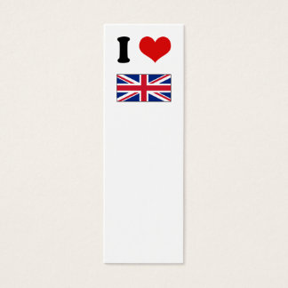 I Heart Love UK British Union Jack Flag Mini Business Card