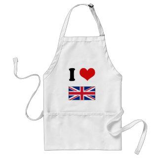 I Heart Love UK Union Jack Flag Apron