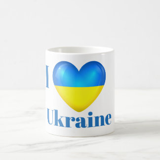 I Heart Love Ukraine Flag Mug