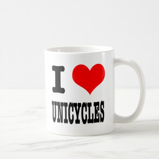 I HEART (LOVE) UNICYCLES MUG