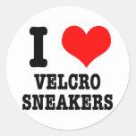 I HEART (LOVE) velcro sneakers Classic Round Sticker