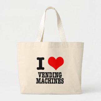 I HEART (LOVE) VENDING MACHINES CANVAS BAG