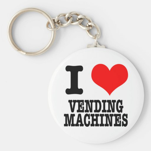 I HEART (LOVE) VENDING MACHINES KEY CHAINS