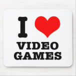 I HEART (LOVE) video games Mouse Pads