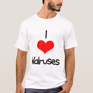 I Heart (Love) Walruses T-Shirt