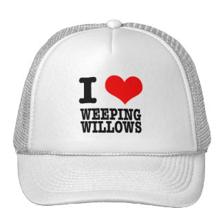 I HEART (LOVE) WEEPING WILLOWS MESH HAT