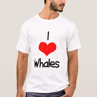 I Heart (Love) Whales T-Shirt