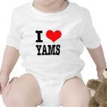 I HEART (LOVE) YAMS BABY BODYSUITS