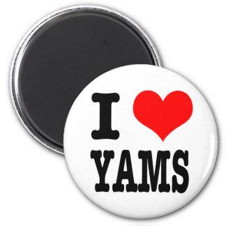 I HEART (LOVE) YAMS REFRIGERATOR MAGNETS